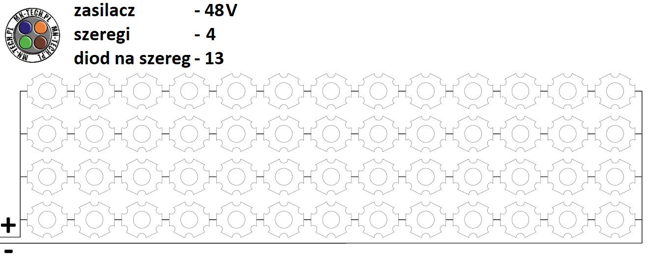 48V 4 szeregi 13 diod