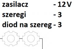 12V 3 szeregi  3 diody