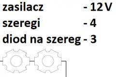 12V 4 szeregi 3 diody