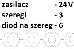 24V 3 szeregi 6 diod