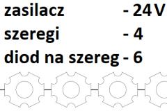 24V 4 szeregi 6 diod