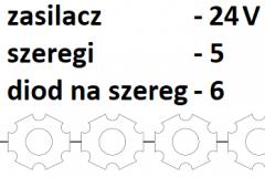 24V 5 szeregów 6 diod