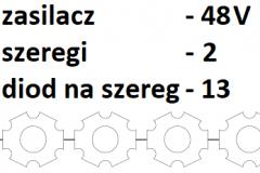 48V 2 szeregi 13 diod