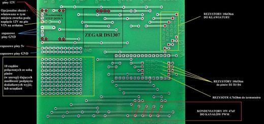 płytka pcb pod arduino nano