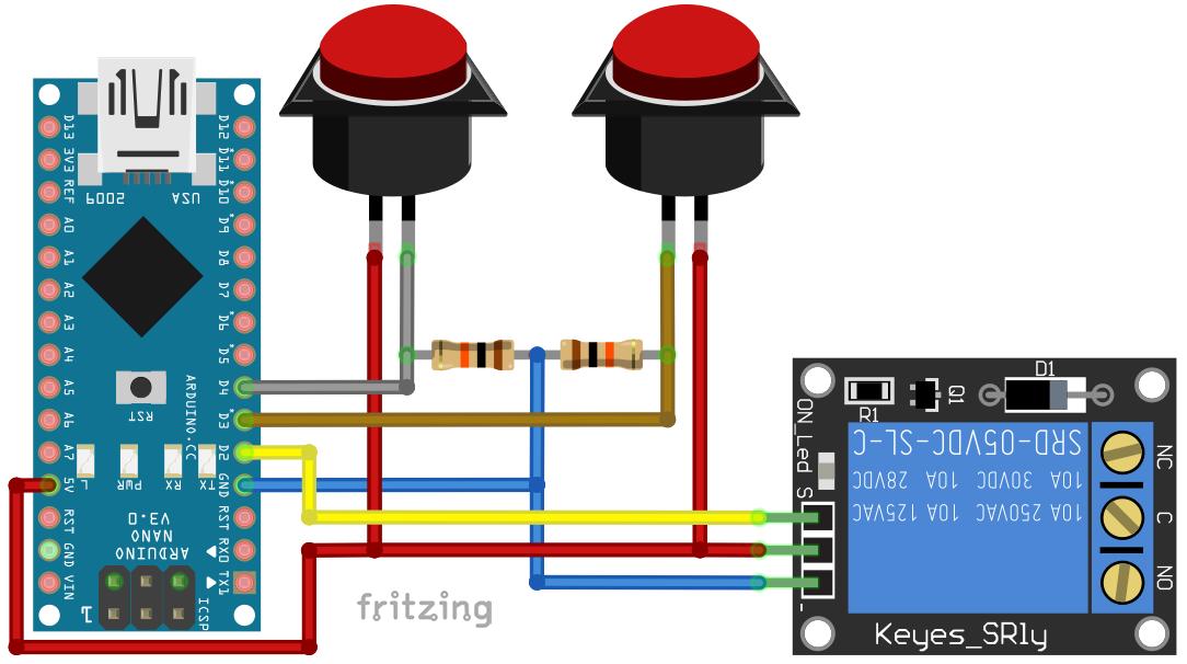 Automatyczna dolewka - schemat połączeń